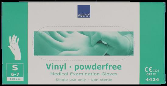 Billede af Vinyl handsker small pudderfri, 100 stk.