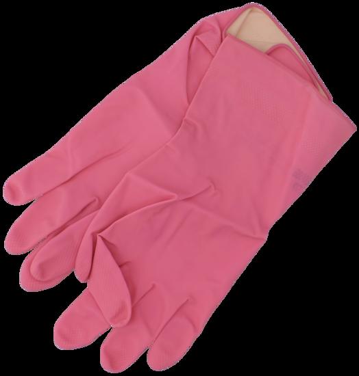 Billede af Gummihandske pink str. L/8,5