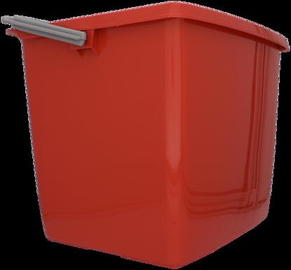 Billede af Dit spand firkantet 13 l rød